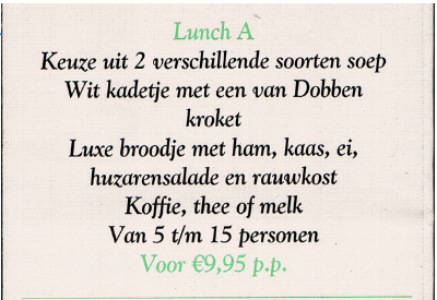 lunch stormvogel